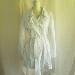 Old navy white trench coat